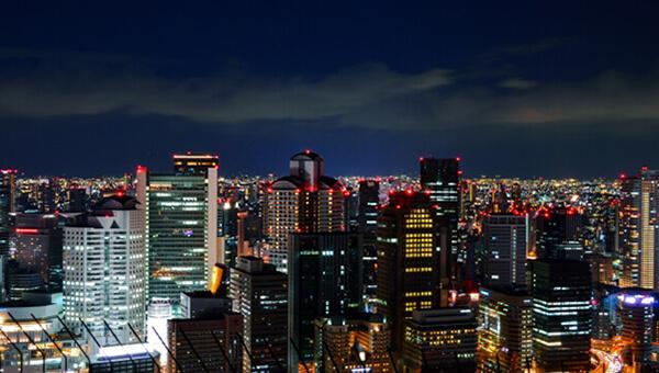 大阪・梅田の夜景